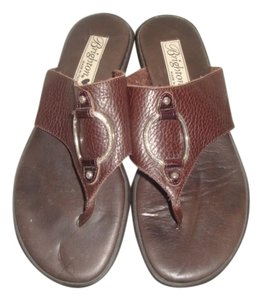Brighton Leather Slides brown Sandals