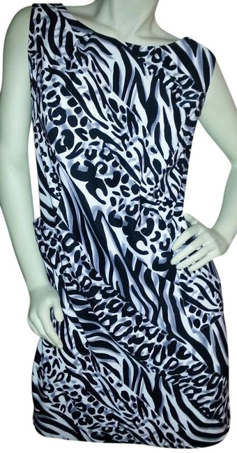 Preload https://item1.tradesy.com/images/kim-rogers-black-and-gray-on-white-animal-print-sheath-knee-length-workoffice-dress-size-14-l-511425-0-0.jpg?width=400&height=650