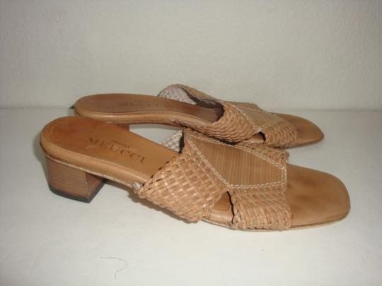 Sesto Meucci Leather Woven brown Sandals