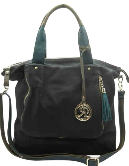 Rimen Hand Tote in Black, Green