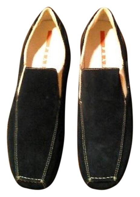 Item - Navy Men Suede Casual Flats Size US 7 Narrow (Aa, N)