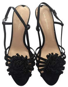 Via Spiga Leather Black Sandals