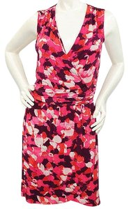 NELL short dress Print Stretch Sleveless V Neck on Tradesy