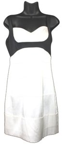 BCBGMAXAZRIA Black White Satin Silk Dress
