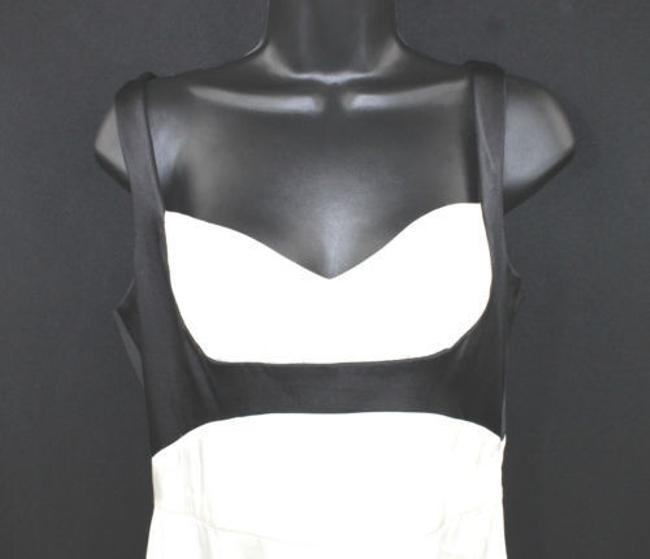 BCBGMAXAZRIA Black White Satin Silk Dress Image 1