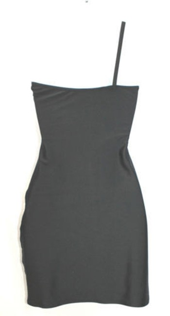 JOELY NIAN London One Shoulder Stretch Bodycon Black Dress
