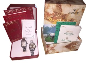 Rolex Ladies Rolex And Cartier Watch