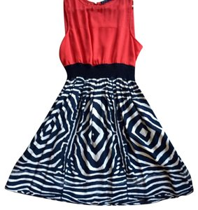 Zara short dress Red Tribal Zebra Sheer Coctail Classy on Tradesy
