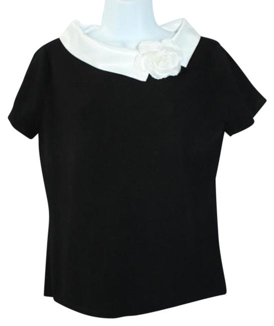 Preload https://item4.tradesy.com/images/white-trim-floret-detail-black-knit-m-blouse-size-8-m-5115178-0-0.jpg?width=400&height=650