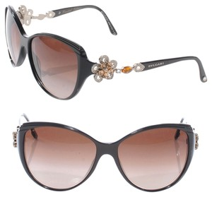 BVLGARI Bvlgari Cat Eye Sunglasses 2015 Limited Edition Swarovski Crystal 8097 Bulgari Mediterranean Flower Sunglasses W Case