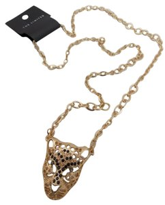 The Limited THE LIMITED PANTHER/CHEETAH GOLD LONG NECKLACE.