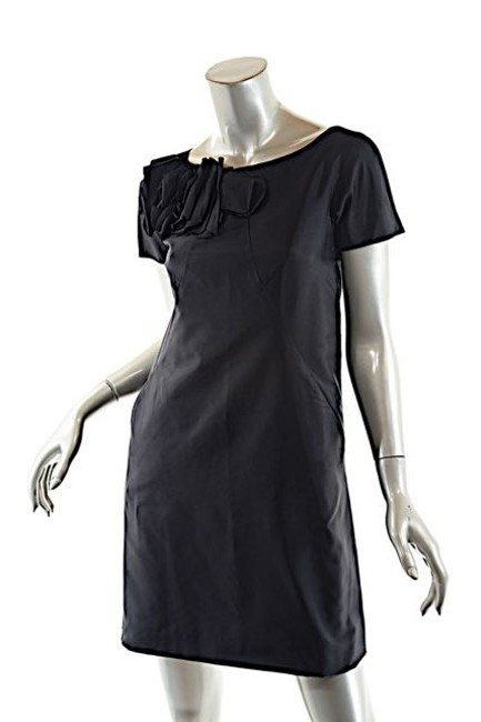 Moschino short dress Black Rosette Satin Little on Tradesy Image 3