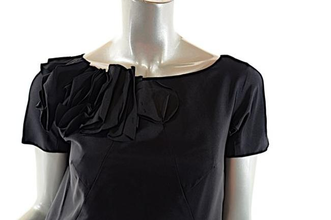 Moschino short dress Black Rosette Satin Little on Tradesy Image 6