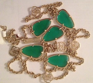ac37a7af7 Kendra Scott Green 'kinley' Long Station Necklace - Tradesy
