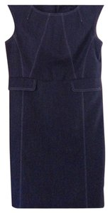 Premise Indigo Wash Denim Sheath Petites Dress