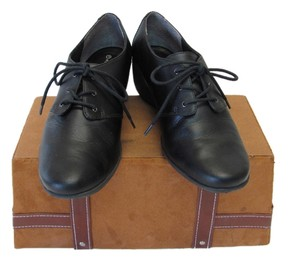 Rockport Excellent Condition Leather Black Wedges