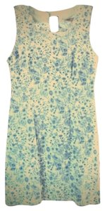 Forever 21 short dress Blue & White 21 Love21 Tea Floral Flowers Keyhole on Tradesy