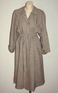 Vintage Winter Wool Trench Wool 70s Tweed Trench Coat
