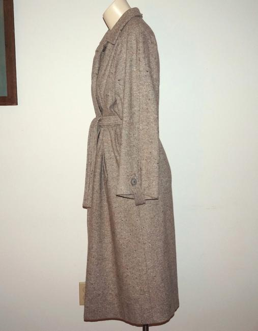 Vintage Winter Wool 70s Tweed Trench Coat