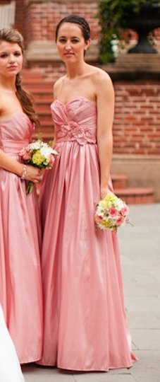 Watters Pink Taffeta 7716 Formal Bridesmaid/Mob Dress Size 4 (S)
