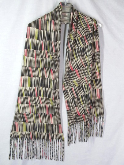 Other Scarf Striped Cotton Modal Multi-Color Fringe 16.5 X 70