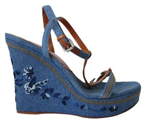 Dior denim blue Platforms