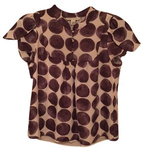 Banana Republic Top Dot Print