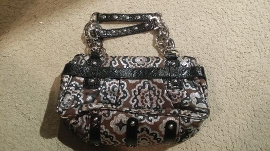Rafe Satchel in Brown,black,silver pattern