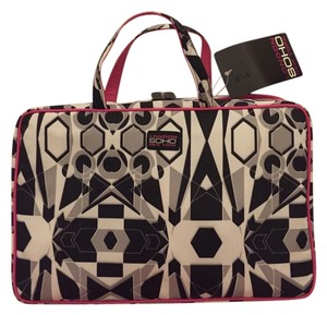 SOHO Beauty Black/White/Pink Travel Bag
