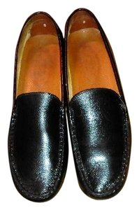Tod's Leather Loafers Black Flats