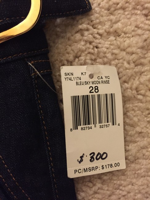 Guess Gold Hardware Boot Cut Jeans-Dark Rinse