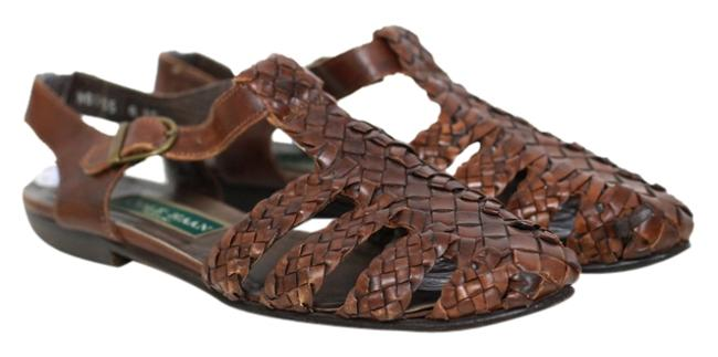 Item - Brown Woven Leather Sandals Size US 8 Narrow (Aa, N)