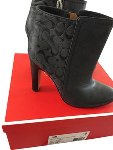 Coach BLACK woth LOGO Boots