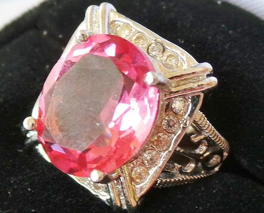 Other Beautiful Pink Topaz 925 Sterling Silver Ring 6.5