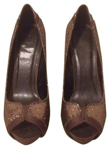 Joey O Glitter Brown Platforms