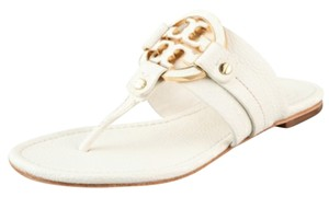 Tory Burch white bleach Flats