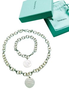Tiffany & Co. Tiffany & Co. Round Tag Necklace and Bracelet