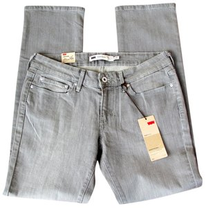 Levi's Gray Levis Slight Curve Straight Leg Jeans-Medium Wash