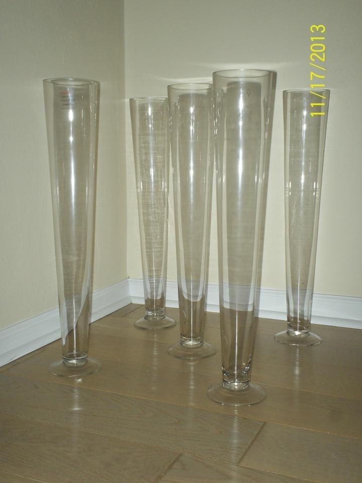 Clear 24 Inch Tall Pilsner Vases 5 Vases Centerpiece Tradesy
