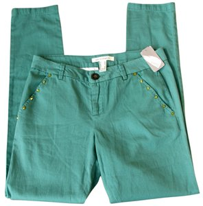 Love Coulture Stud Gold Skinny New Skinny Pants green