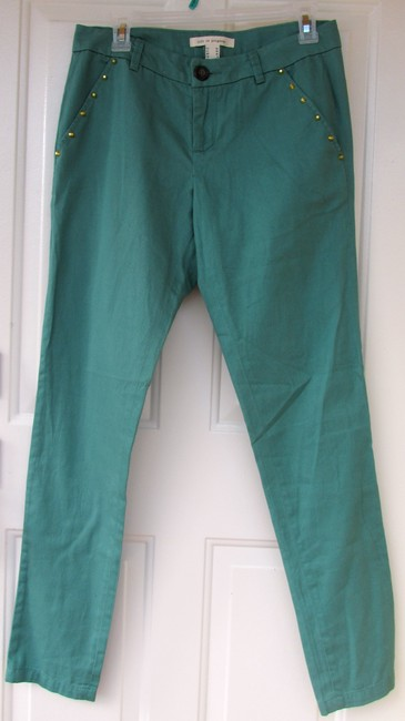Love Coulture Stud Gold New Skinny Pants green Image 5