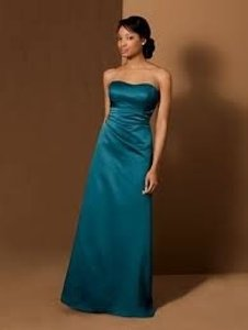 Alfred Angelo Blue Satin 6493 Bridesmaid/Mob Dress Size Other