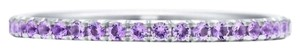 Tiffany & Co. Tiffany & Co Metro ring 18K white gold with amethysts Size 5