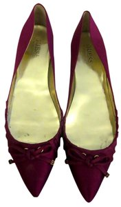 Guess By Marciano Satin Pointed Toe Pink Flats