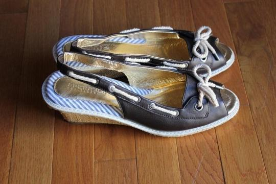 Sperry Brown Leather Wedges