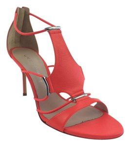 Casadei Women Color Trickini Heel Coral Sandals