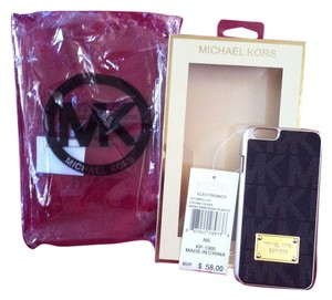 Michael Kors Michael Kors Authentic BRAND NEW WITH TAGS/BOX Black Signature M.K. I-Phone 5/5S Cell Phone Case With M.K. Plastic Bag Cover As Well Retail On Tag $58