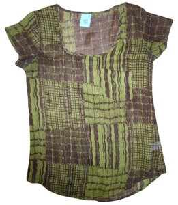 H.I.P. Layering Boho Top Olive Green, Brown