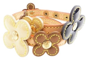 Louis Vuitton Authentic Louis Vuitton Leather Flower Monogram Double Wrap Bracelet