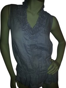 Other Linen Ruffle Tank Top gray
